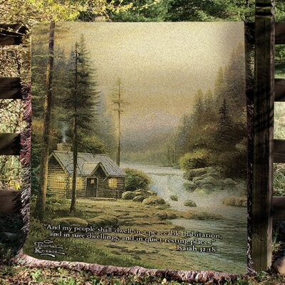 Evening in Forest Tapestry Cotton Throw