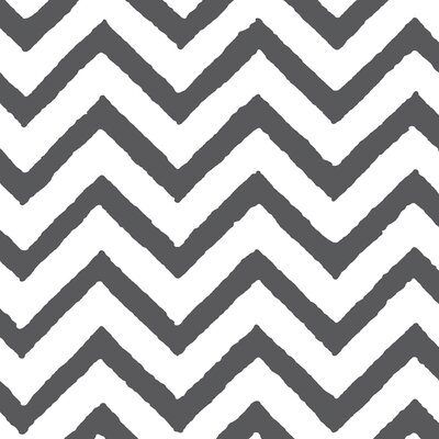 Zig Zag Chevron Grey Area Rug Rug Size: Rectangle 31 x 110.5