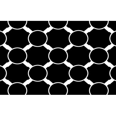 Band Black Area Rug Rug Size: 510 x 44