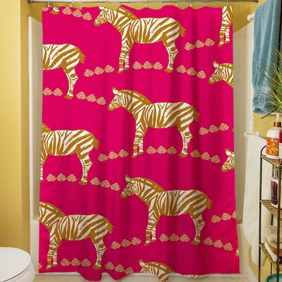 Zebra Shower Curtain Color: Purple