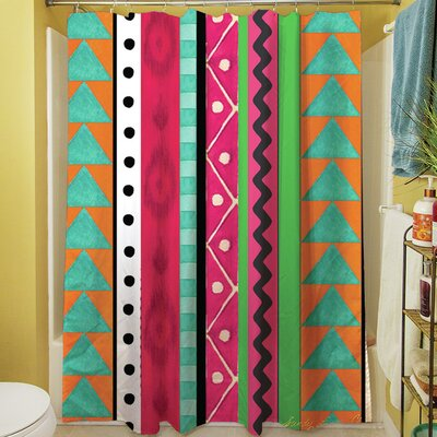 Boho Medallion Square Shower Curtain