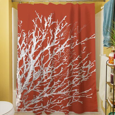Coastal Coral Shower Curtain