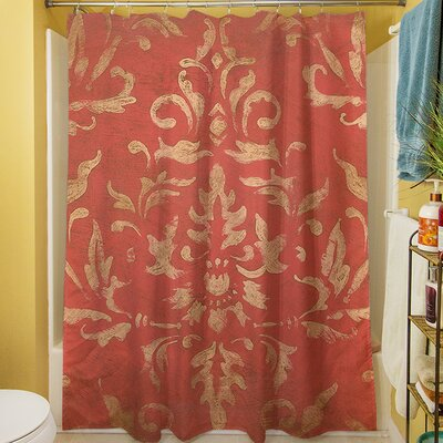 Golden Baroque Shower Curtain