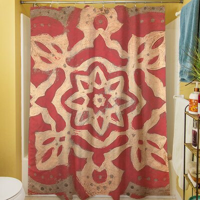 Golden Medallion Shower Curtain
