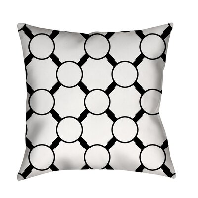 Band Printed Throw Pillow Size: 18 H x 18 W x 5 D, Color: White