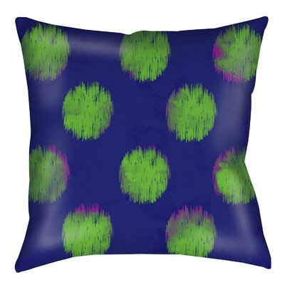 Big Dots Printed Throw Pillow Color: Bright, Size: 26 H x 26 W x 7 D