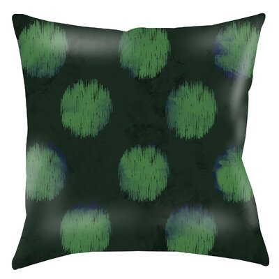 Big Dots Printed Throw Pillow Color: Emerald, Size: 16 H x 16 W x 4 D