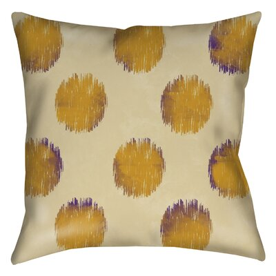 Big Dots Printed Throw Pillow Color: Gold, Size: 26 H x 26 W x 7 D