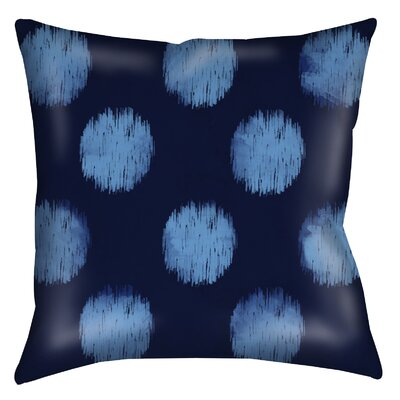 Big Dots Printed Throw Pillow Size: 26 H x 26 W x 7 D, Color: Navy