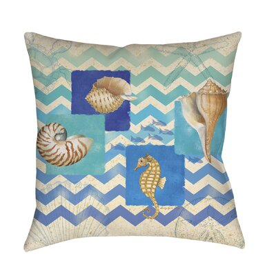 Deep Blue Sea Printed Throw Pillow Size: 16 H x 16 W x 4 D