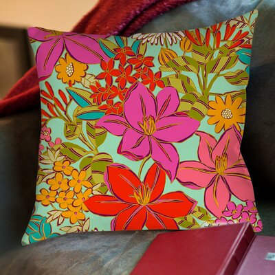 Main Mint Printed Throw Pillow Size: 20 H x 20 W x 5 D