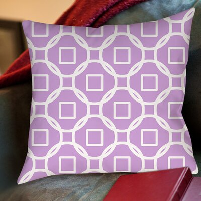 Modern Geometric Lavender Printed Throw Pillow Size: 26 H x 26 W x 7 D