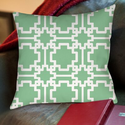 Modern Geometric Printed Throw Pillow Size: 26 H x 26 W x 7 D