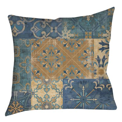 Michael Moroccan Patchwork Printed Throw Pillow Size: 26 H x 26 W x 7 D