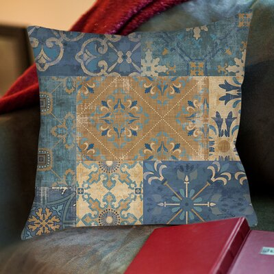 Michael Moroccan Patchwork Printed Throw Pillow Size: 16 H x 16 W x 4 D