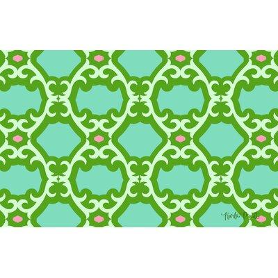 Francie Trellis Green Area Rug Rug Size: 31 x 110.5