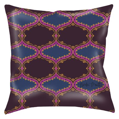 Bird Berries Folk Ogee Printed Throw Pillow Size: 18 H x 18 W x 5 D