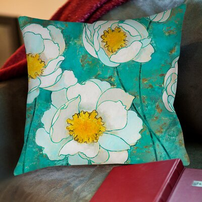 Flower Field Printed Throw Pillow Size: 16 H x 16 W x 4 D