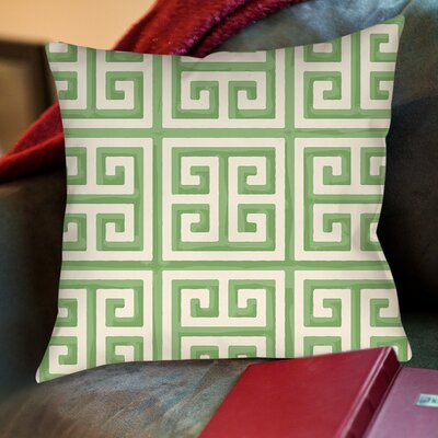 Greek Key II Printed Throw Pillow Color: Mint, Size: 18 H x 18 W x 5 D
