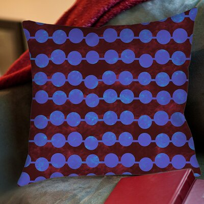 Line Dots Printed Throw Pillow Size: 20 H x 20 W x 5 D, Color: Bright