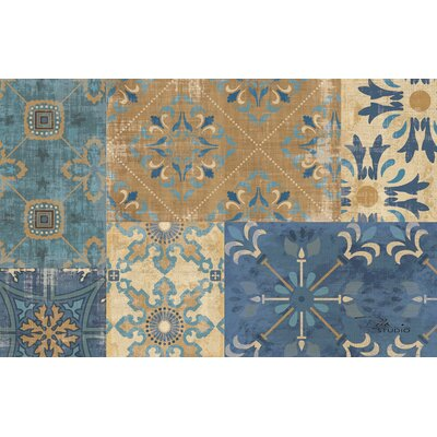 Moroccan Patchwork Blue Rug Rug Size: 510 x 44