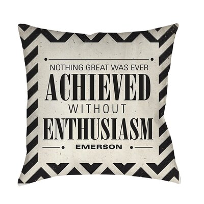 Achieved Printed Throw Pillow Size: 16 H x 16 W x 4 D