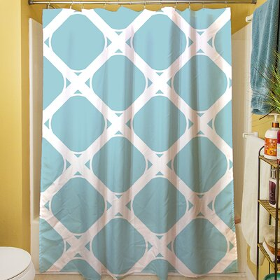 Modern Geometric Robin Egg Shower Curtain