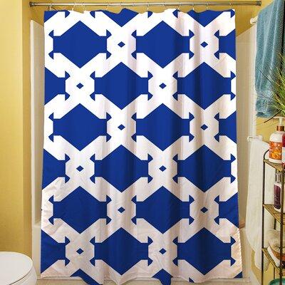Modern Geometric Sapphire Shower Curtain