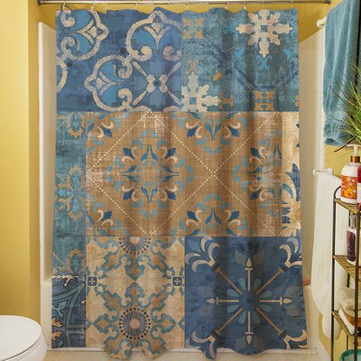Moroccan Patchwork Shower Curtain