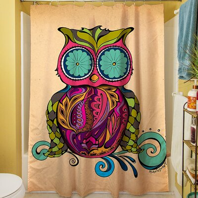 Owl Branch Gregir Shower Curtain