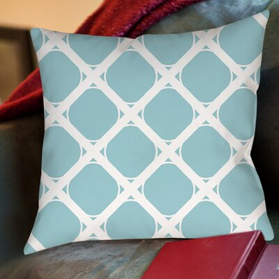 Modern Geometric Robin Egg Printed Throw Pillow Size: 26 H x 26 W x 7 D