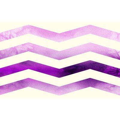 Ombre Chevron Purple/White Area Rug Rug Size: 510 x 44