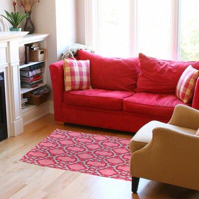 Francie Trellis Pink Geometric Area Rug Rug Size: 510 x 44