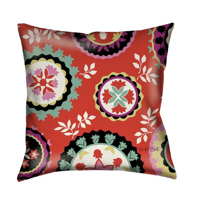 Bird Berries Susani Printed Throw Pillow Size: 16 H x 16 W x 4 D