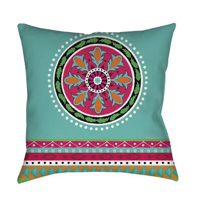 Boho Medallion Printed Throw Pillow Size: 26 H x 26 W x 7 D, Color: Turquoise