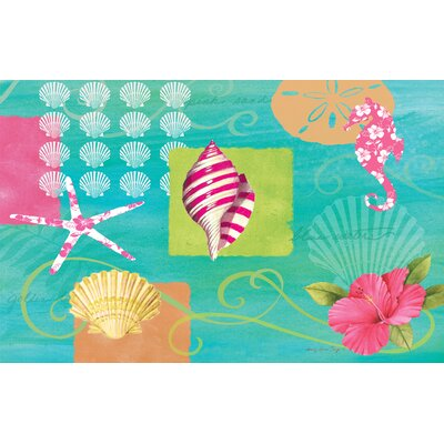 Tropical Beach Multi Rug Rug Size: 510 x 44