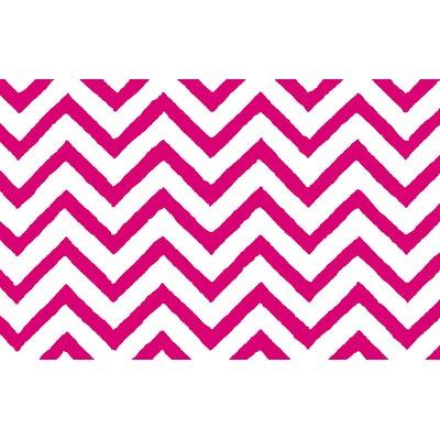 Zig Zag Chevron Pink Area Rug Rug Size: 31 x 110.5