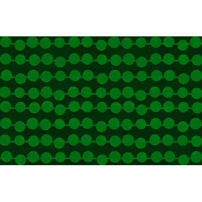 Line Dots Emerald Rug Rug Size: 510 x 44
