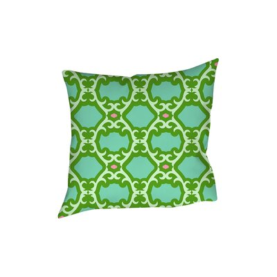 Francie Trellis Printed Throw Pillow Size: 26 H x 26 W x 7 D, Color: Green