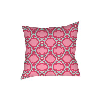 Francie Trellis Printed Throw Pillow Size: 26 H x 26 W x 7 D, Color: Pink