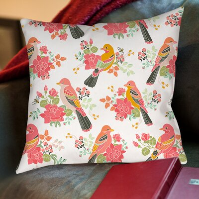 Littlest Bird Printed Throw Pillow Size: 16 H x 16 W x 4 D