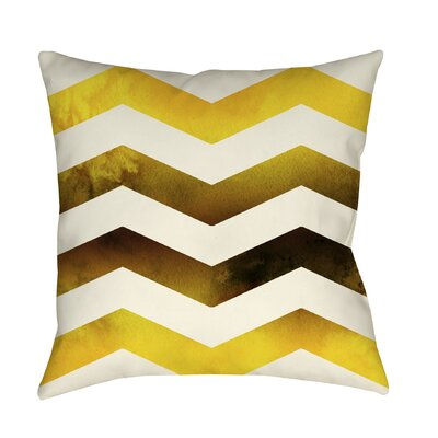 Ombre Printed Throw Pillow Color: Gold, Size: 16 H x 16 W x 4 D