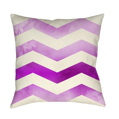 Ombre Printed Throw Pillow Size: 26 H x 26 W x 7 D, Color: Pink