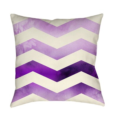 Ombre Printed Throw Pillow Size: 26 H x 26 W x 7 D, Color: Purple