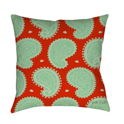 Paisley Floral Printed Throw Pillow Size: 16 H x 16 W x 4 D