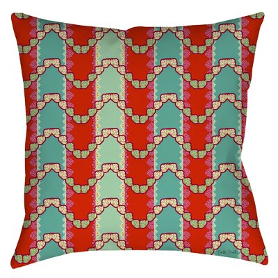 Stripe Mint Printed Throw Pillow Size: 16 H x 16 W x 4 D