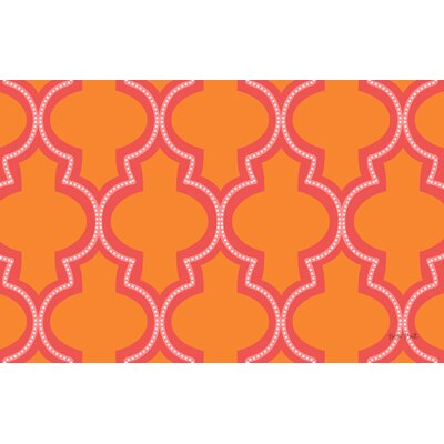 Ogee Orange Dots Area Rug Rug Size: 510 x 44
