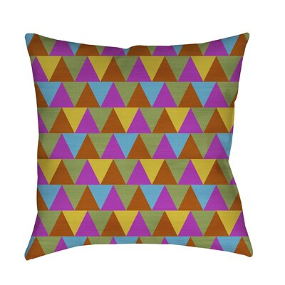Triangles Printed Throw Pillow Size: 26 H x 26 W x 7 D