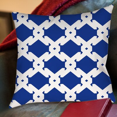 Modern Geometric Sapphire Printed Throw Pillow Size: 20 H x 20 W x 5 D