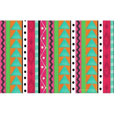 Boho Medallion Square Pink/Green Area Rug Rug Size: 510 x 44